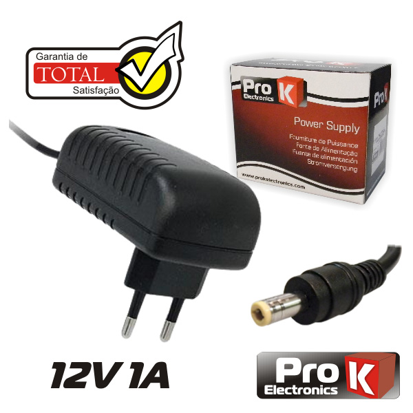 Alimentador 12V 1A - Switching - Ficha 5.5x2.1mm