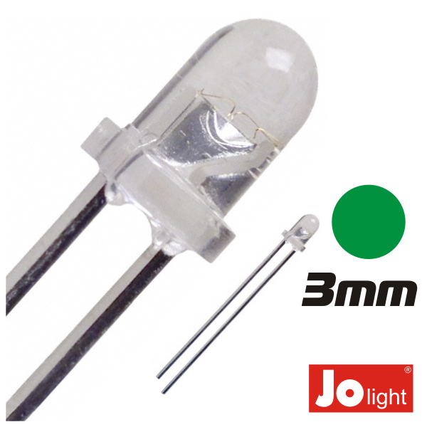 LED 3MM VERDE ALTO BRILHO