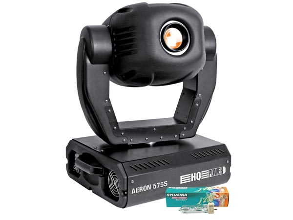 MOVING HEAD AERON 575S SPOT 575W C/ 20 CANAIS E MALA